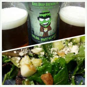 Belgo Hoptologist with Blue Cheese Salad