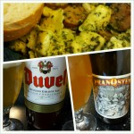 Duvel and Pranqster with Pesto Pasta