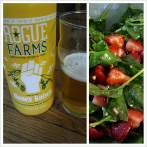 Rogue Honey Kolsch with Salad