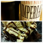 Lagunitas Imperial Stout with Brownie a la Mode