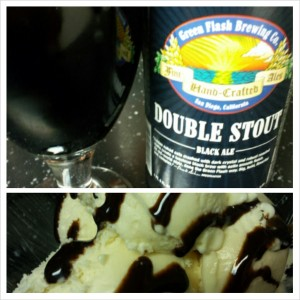 Green Flash Double Stout with Vanilla Ice Cream