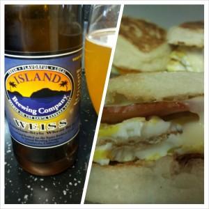 Weiss with Egg Breakfast Sandwich