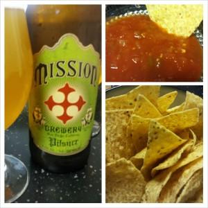 Mission Pilsner with Salsa