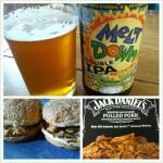 Meltdown DIPA with BBQ Pulled Pork Sandwich